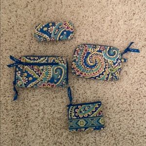 Lot of Vera Bradley wallets and glasses case
